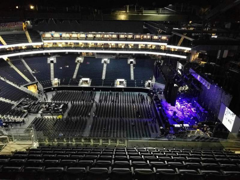 Seating view for Chase Center Section 205 Row 19 Seat 16