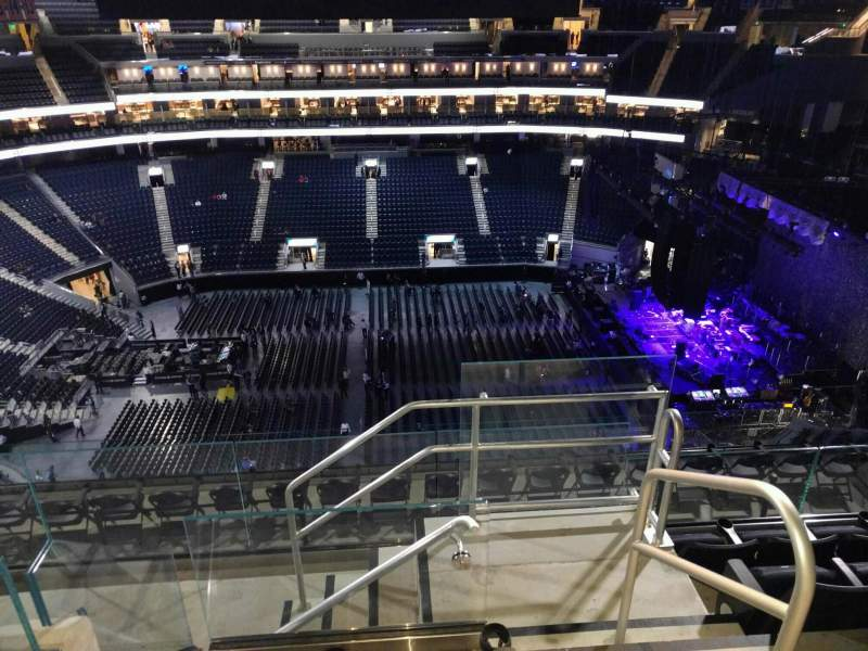 Seating view for Chase Center Section 206 Row 14 Seat 1