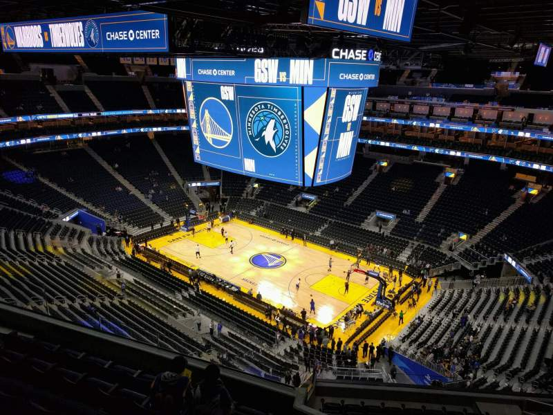Seating view for Chase Center Section 203 Row 11 Seat 6