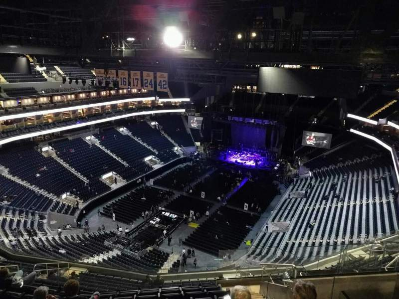 Seating view for Chase Center Section 210 Row 18 Seat 7
