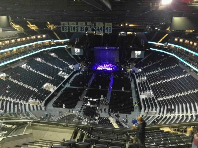 Seating view for Chase Center Section 211 Row 16 Seat 18