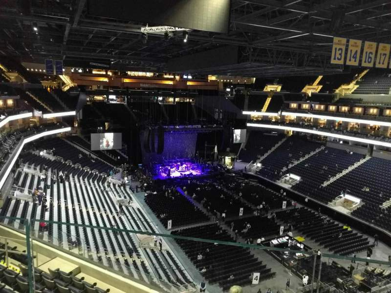 Seating view for Chase Center Section 216 Row aca Seat 4