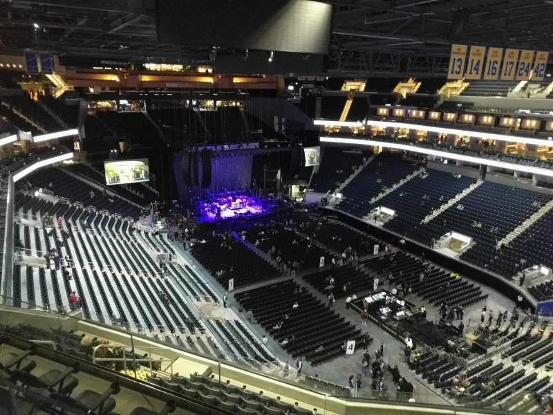 Seating view for Chase Center Section 217 Row 16 Seat 11