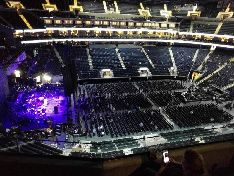 Seating view for Chase Center Section 222 Row 8 Seat 7
