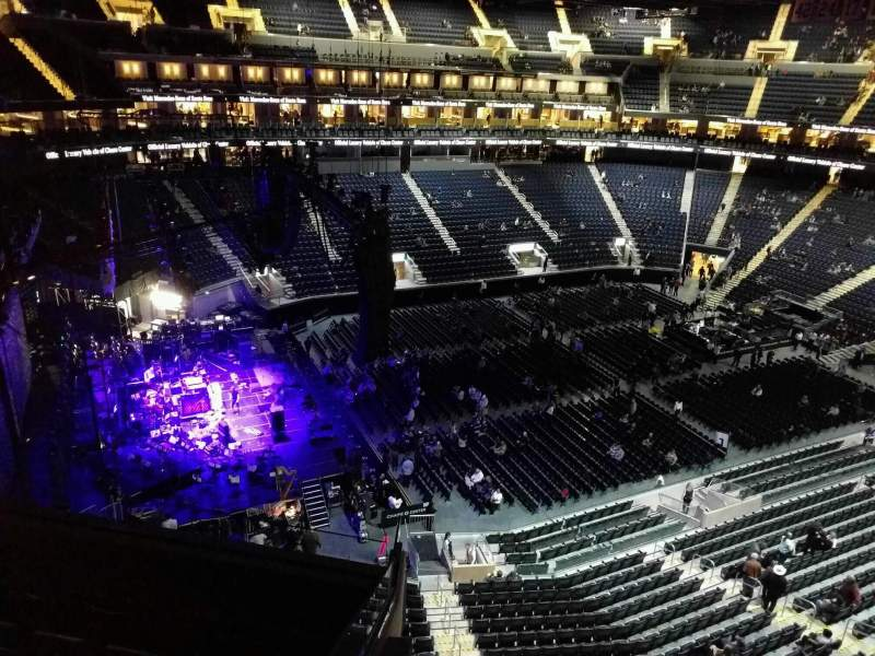 Seating view for Chase Center Section 225 Row 6 Seat 9