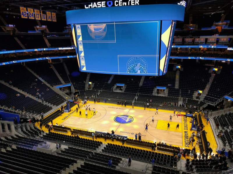 Seating view for Chase Center Section 205 Row 1 Seat 7