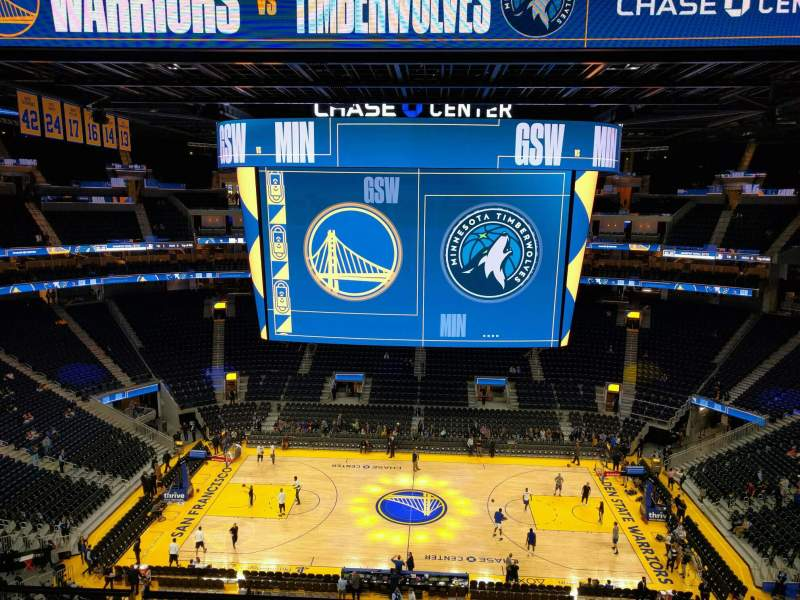 Seating view for Chase Center Section 206 Row ada Seat 11