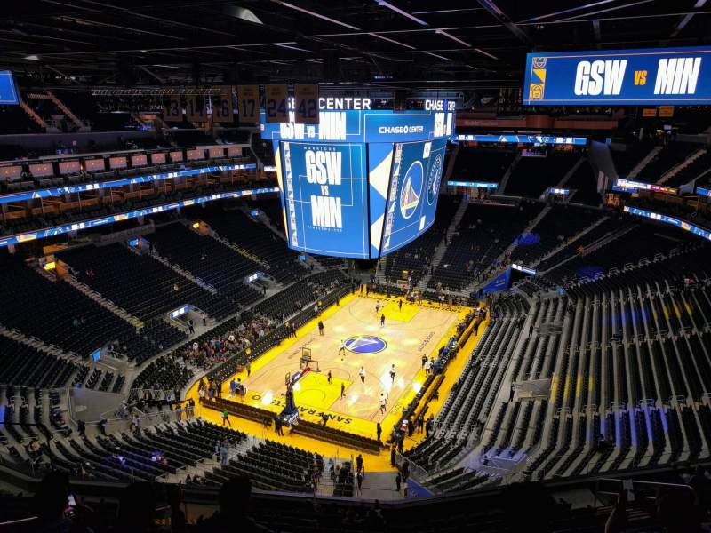 Seating view for Chase Center Section 211 Row 13 Seat 11