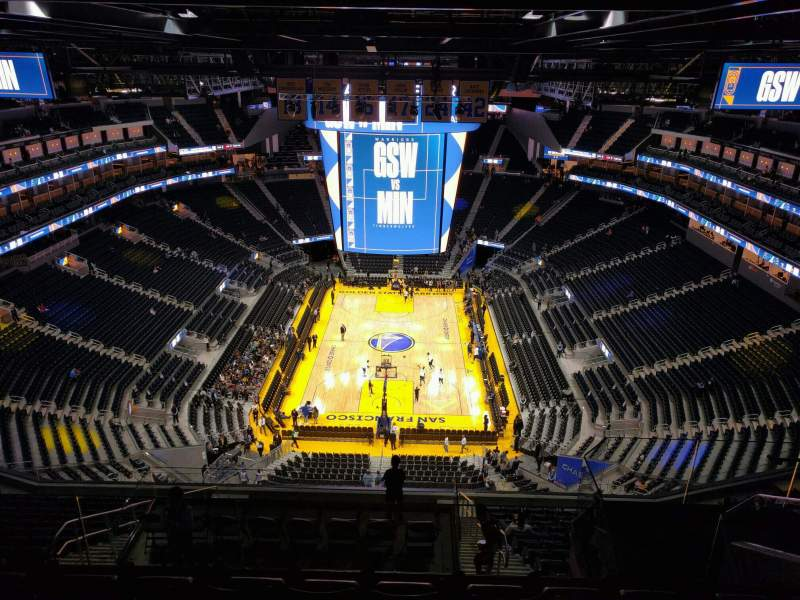Seating view for Chase Center Section 213 Row 17 Seat 7