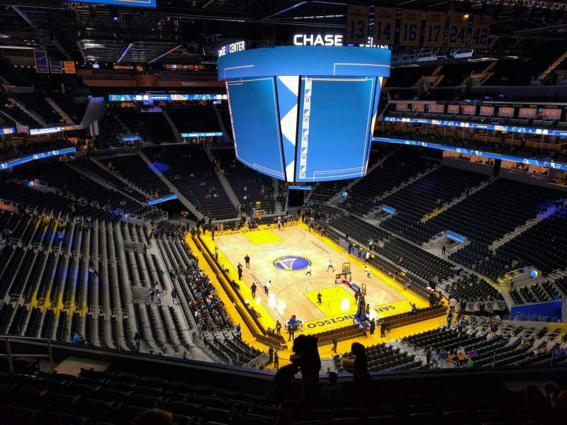 Seating view for Chase Center Section 215 Row 9 Seat 10
