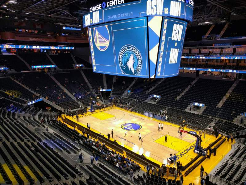 Seating view for Chase Center Section 217 Row 1 Seat 6