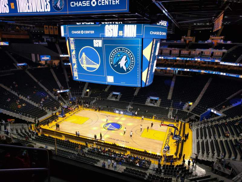 Seating view for Chase Center Section 218 Row 9 Seat 13