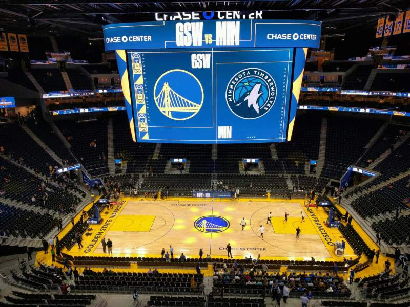 Seating view for Chase Center Section 220 Row ada Seat 11