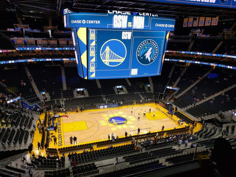 Seating view for Chase Center Section 221 Row 8 Seat 13