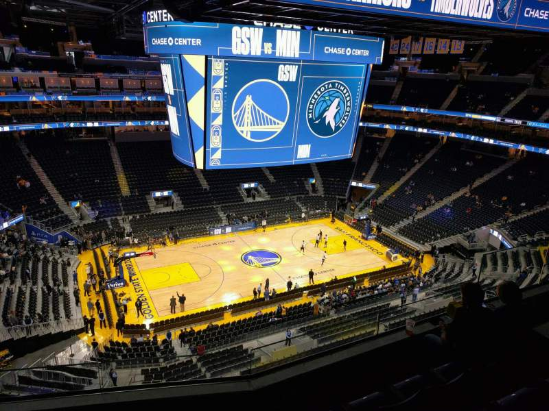 Seating view for Chase Center Section 222 Row 9 Seat 13