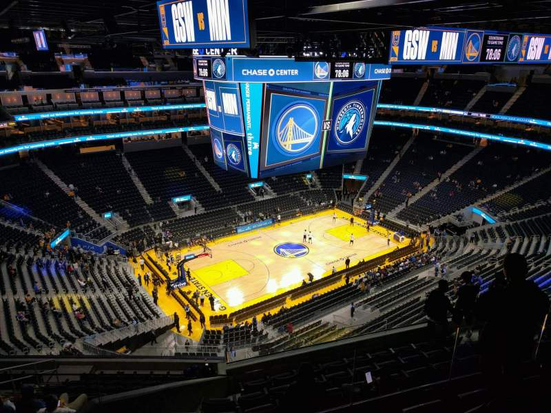 Seating view for Chase Center Section 223 Row 13 Seat 8