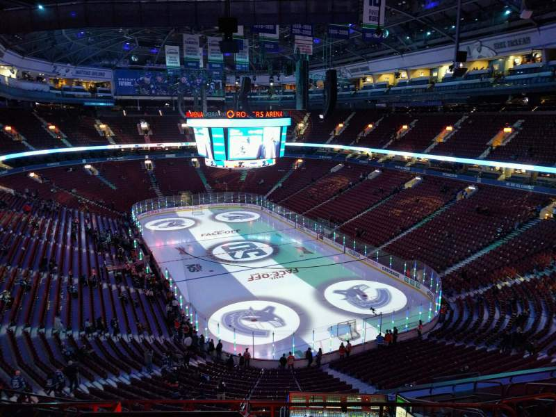 Seating view for Rogers Arena Section 317 Row 11 Seat 110