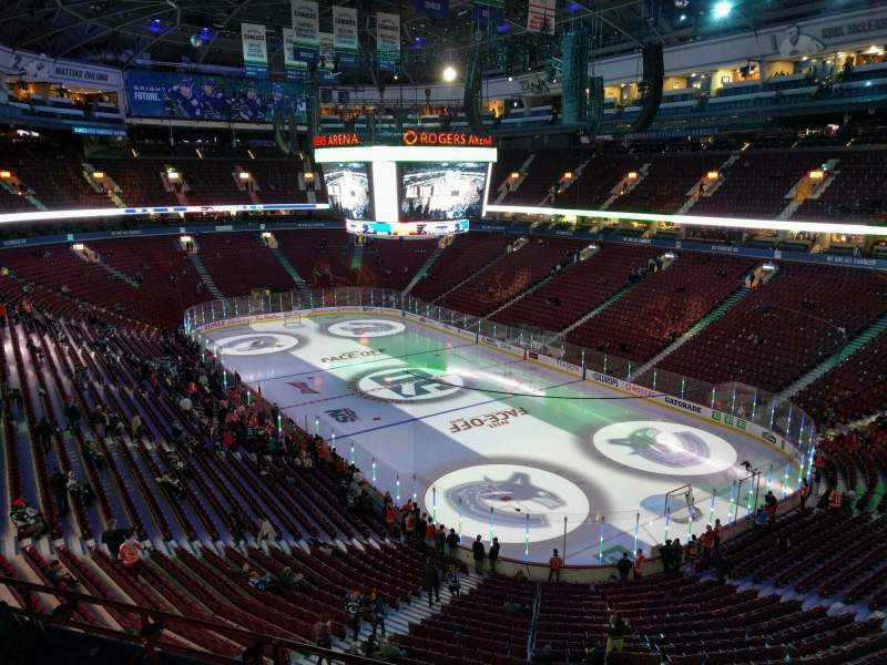 Seating view for Rogers Arena Section 318 Row 7 Seat 106