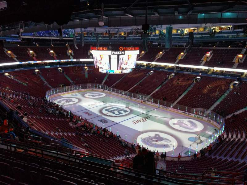 Seating view for Rogers Arena Section 319 Row 13 Seat 107