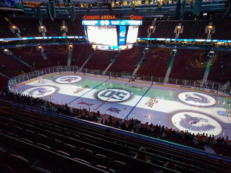 Seating view for Rogers Arena Section 321 Row 9 Seat 105