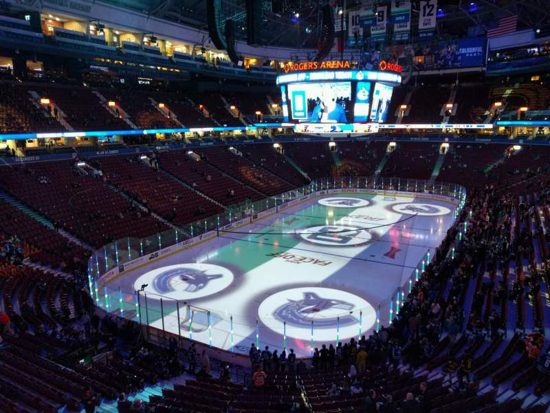Seating view for Rogers Arena Section 328 Row 2 Seat 108