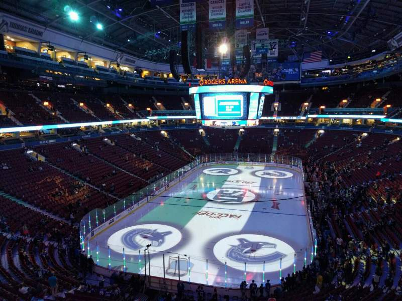 Seating view for Rogers Arena Section 329 Row 4 Seat 107