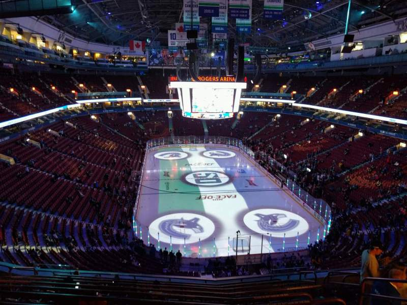 Seating view for Rogers Arena Section 301 Row 11 Seat 108