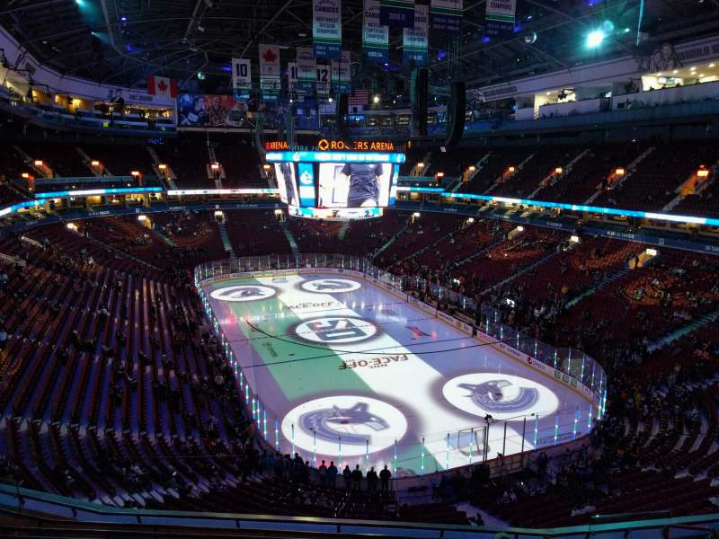 Seating view for Rogers Arena Section 302 Row 9 Seat 106