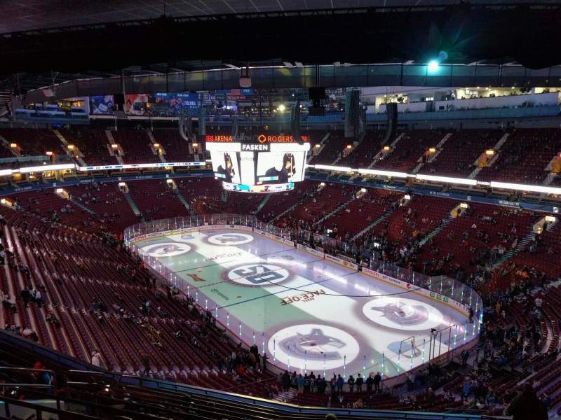 Seating view for Rogers Arena Section 303 Row 13 Seat 108