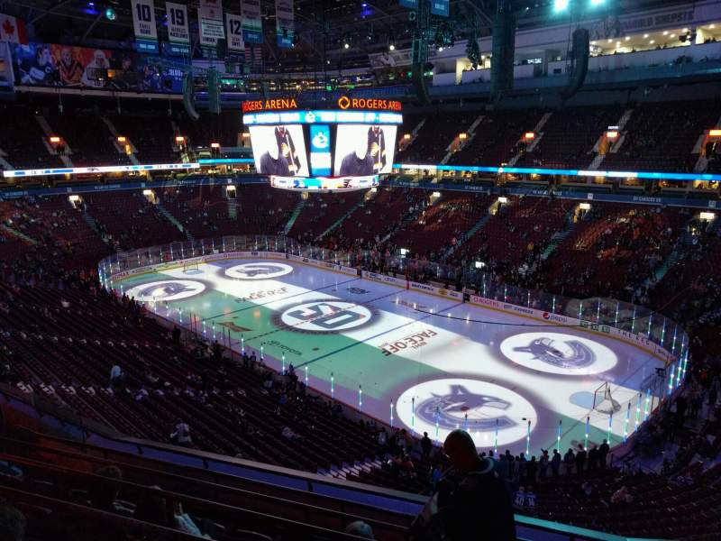 Seating view for Rogers Arena Section 304 Row 7 Seat 106
