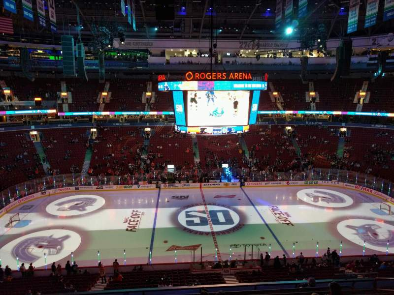 Seating view for Rogers Arena Section 308 Row 9 Seat 107