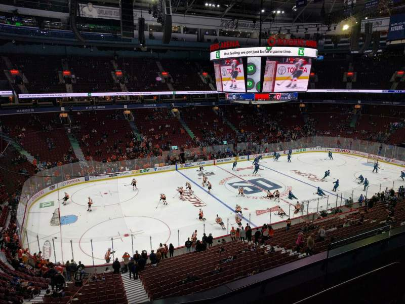 Seating view for Rogers Arena Section 310 Row 4 Seat 107