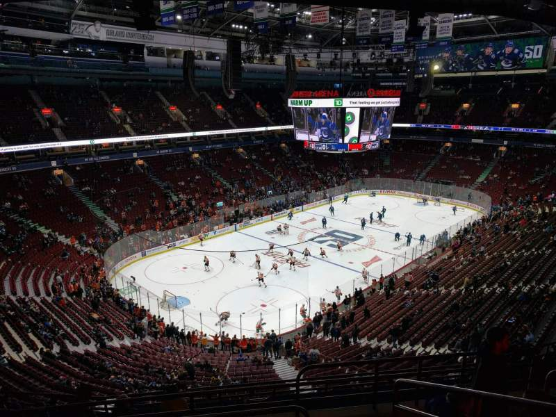 Seating view for Rogers Arena Section 312 Row 11 Seat 104