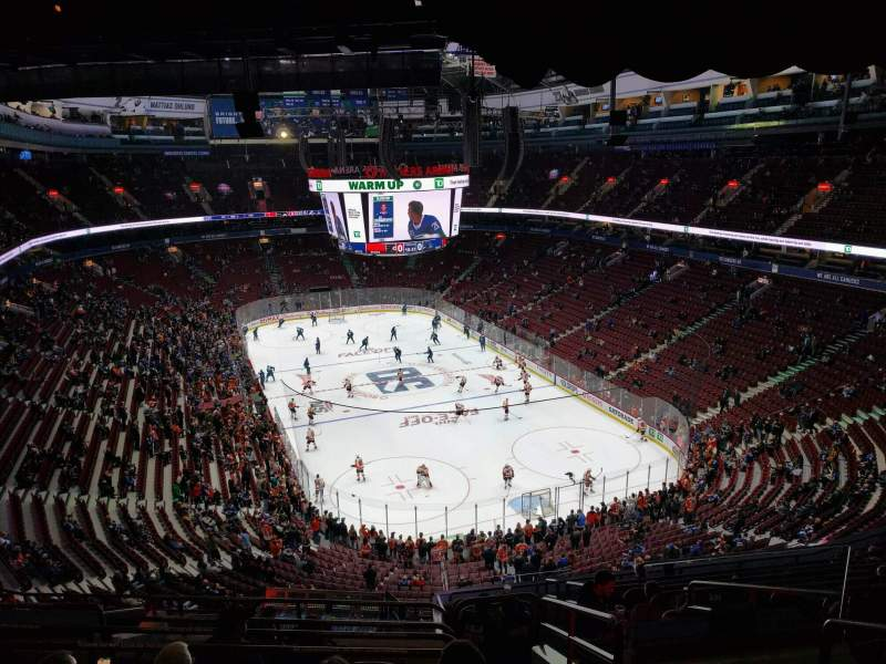 Seating view for Rogers Arena Section 317 Row 13 Seat 103