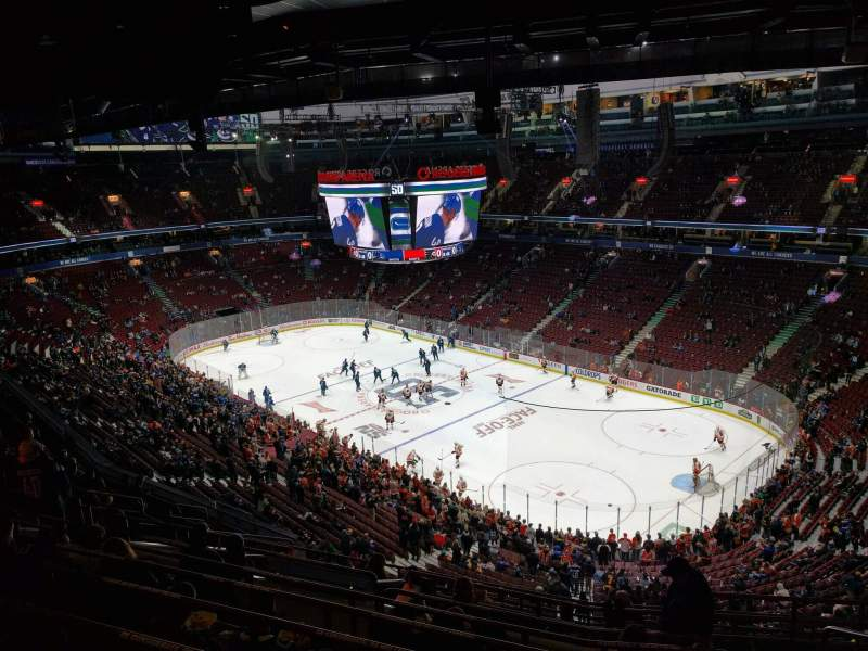 Seating view for Rogers Arena Section 319 Row 13 Seat 106