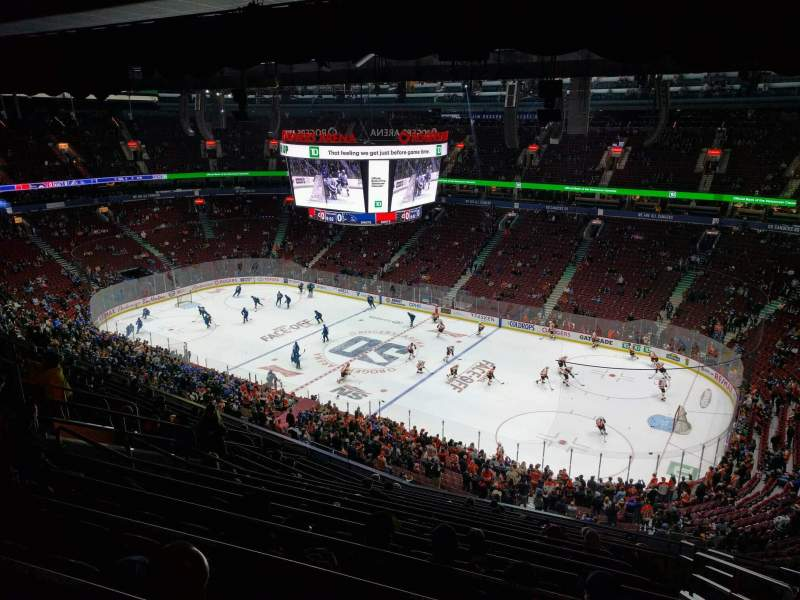 Seating view for Rogers Arena Section 320 Row 14 Seat 105