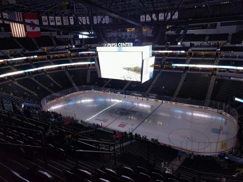 Seating view for Pepsi Center Section 376 Row 11 Seat 7