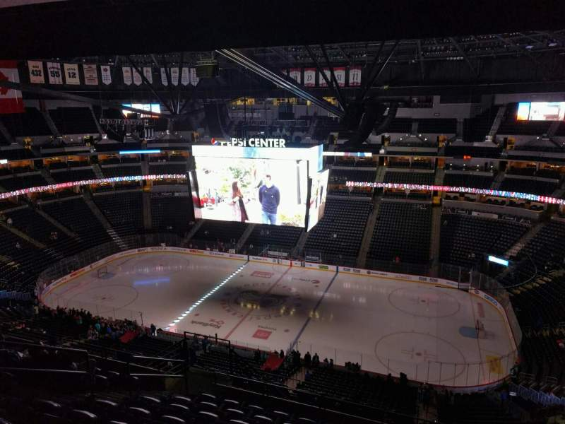 Seating view for Pepsi Center Section 378 Row 15 Seat 7