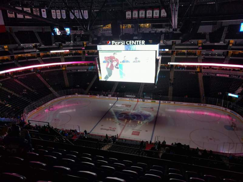 Seating view for Pepsi Center Section 380 Row 12 Seat 8