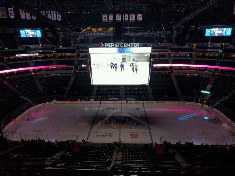 Seating view for Pepsi Center Section 302 Row 11 Seat 7