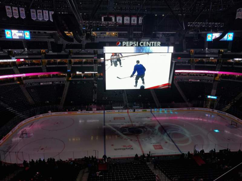 Seating view for Pepsi Center Section 304 Row 6 Seat 4