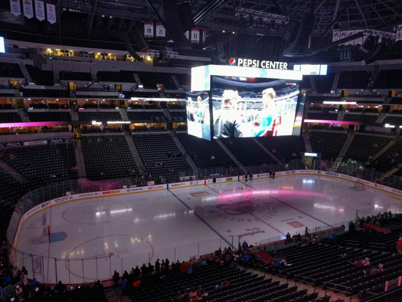 Seating view for Pepsi Center Section 309 Row 1 Seat 6