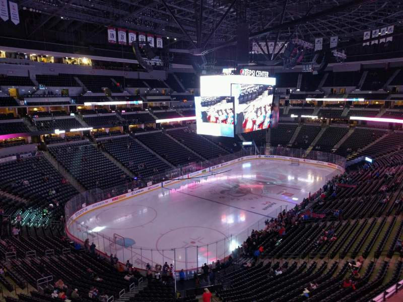 Seating view for Pepsi Center Section 313 Row 3 Seat 11