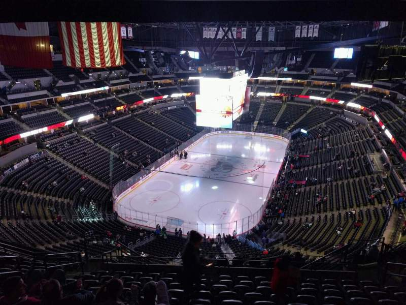 Seating view for Pepsi Center Section 318 Row 15 Seat 11