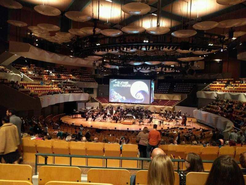 Seating view for Boettcher Concert Hall Section Orchestra 3 Row v Seat 63