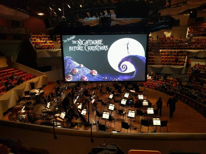 Seating view for Boettcher Concert Hall Section Dress Circle 2 Row i Seat 11