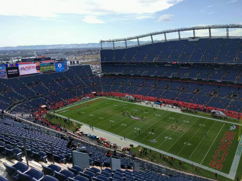 Seating view for Empower Field at Mile High Stadium Section 529 Row 23 Seat 17