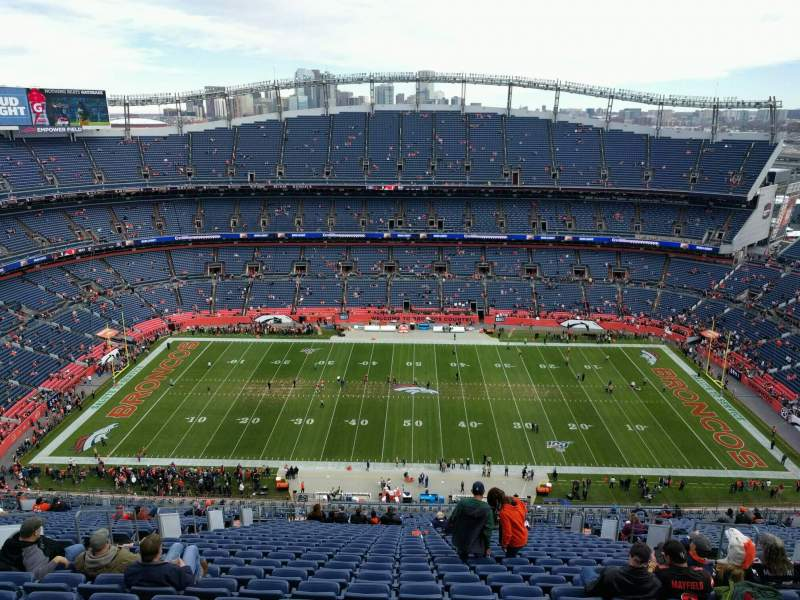 Seating view for Empower Field at Mile High Stadium Section 508 Row 33 Seat 10