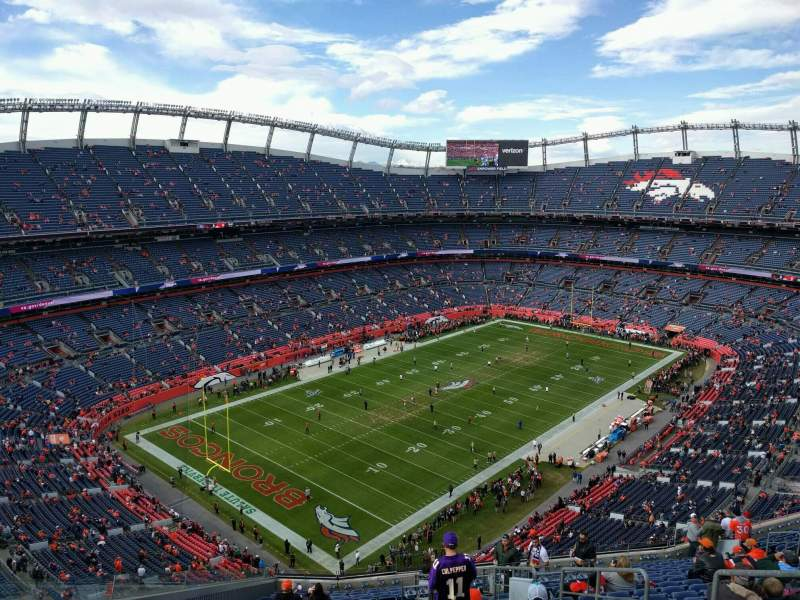 Seating view for Empower Field at Mile High Stadium Section 542 Row 20 Seat 5
