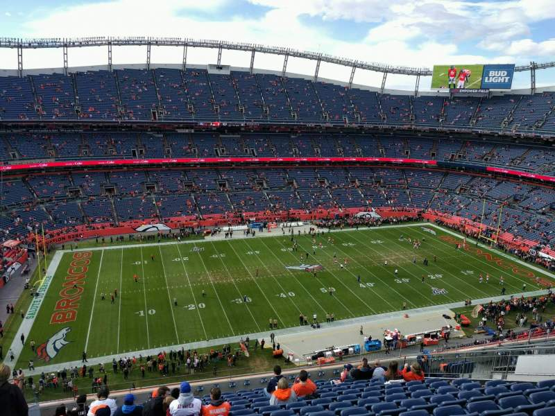 Seating view for Empower Field at Mile High Stadium Section 537 Row 14 Seat 21